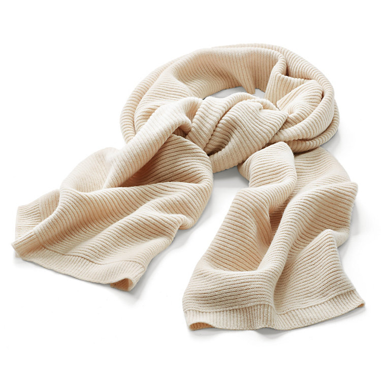 Lanius Ribbed Scarf, Cream