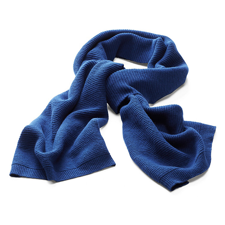 Lanius Ribbed Scarf, Dark Blue
