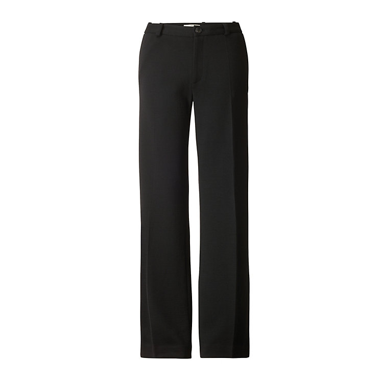 Lanius Virgin Wool Jersey Trousers, Black