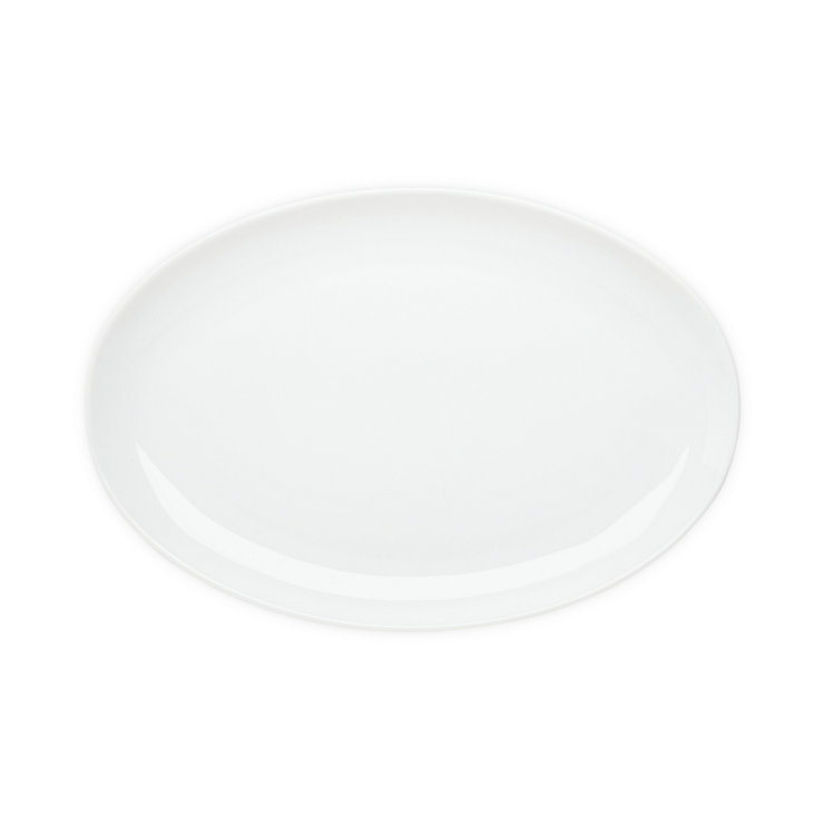 Large Oval Serving Plate White