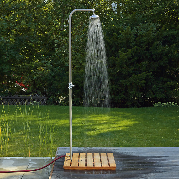 Lawn Shower Made of Stainless Steel