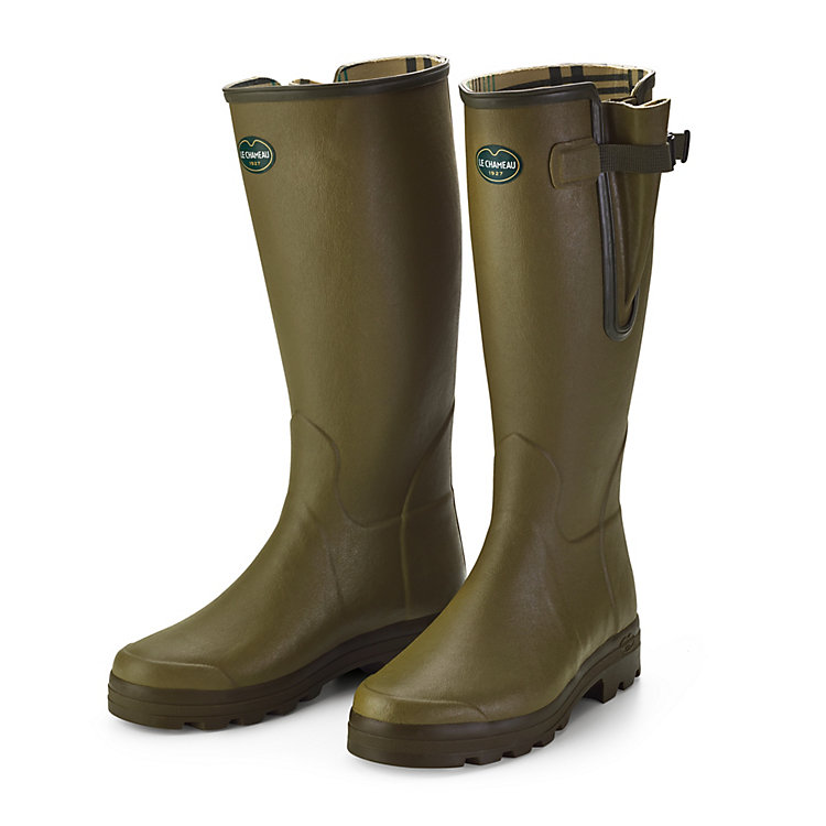 Le Chameau Men's Rubber Boots, Green