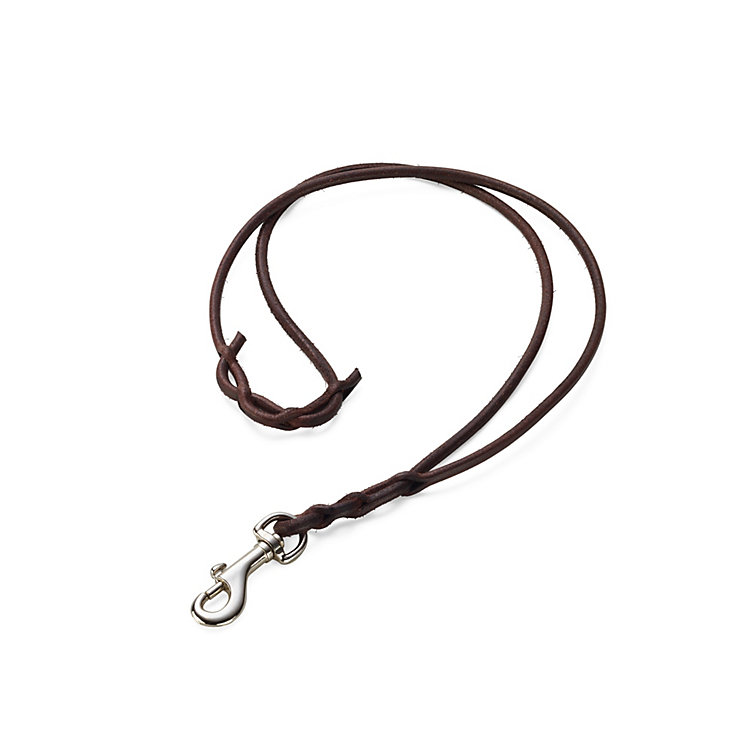 Leather Key Lanyard Dark brown