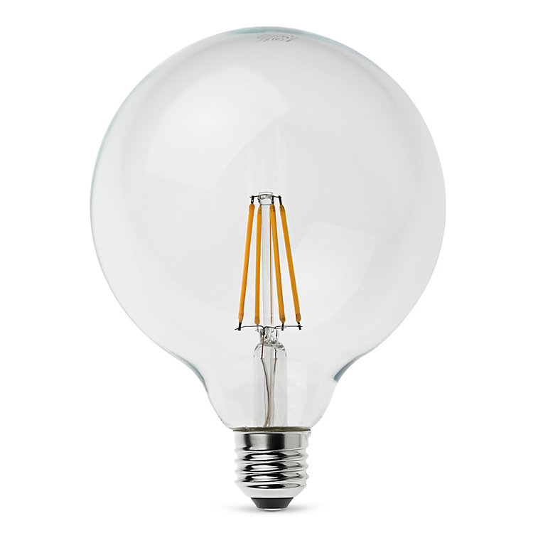 LED-Filament-Globelampe 125 mm E27 7 W Klar