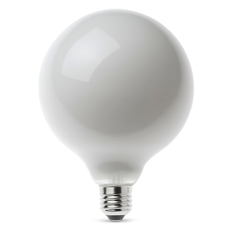 LED-Filament-Globelampe 125 mm E27 8 W Opal