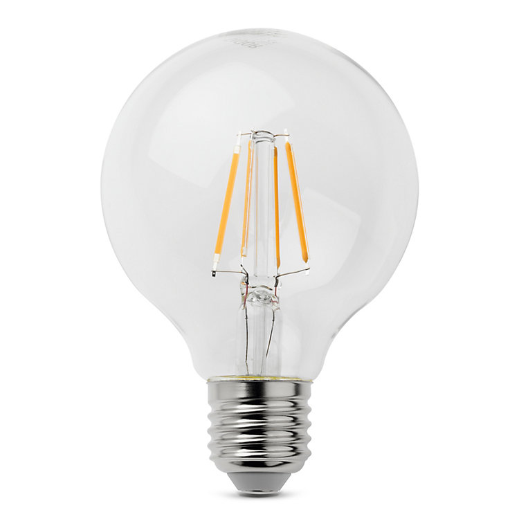 LED-Filament-Globelampe 80 mm E27 E 27 4,5 W Klar