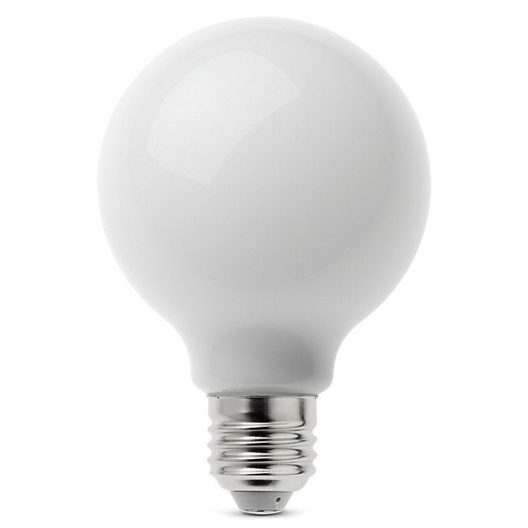 LED-Filament-Globelampe 80 mm E27 E27 7 W Opal