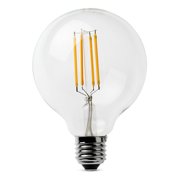 LED-Filament-Globelampe 95 mm E27 E27 4,5 W Klar