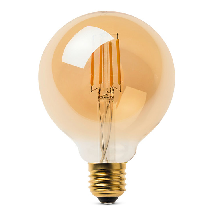 LED-Filament-Globelampe 95 mm E27 E27 4,5 W Goldgelüstert