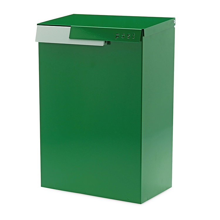 Letterbox Cato Green NCS S5540-G / White Aluminium RAL 9006
