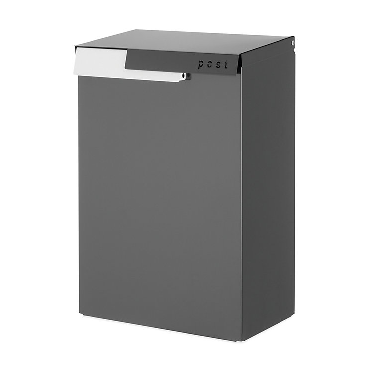Letterbox Cato Dark Grey RAL 7021 / Traffic White RAL 9016