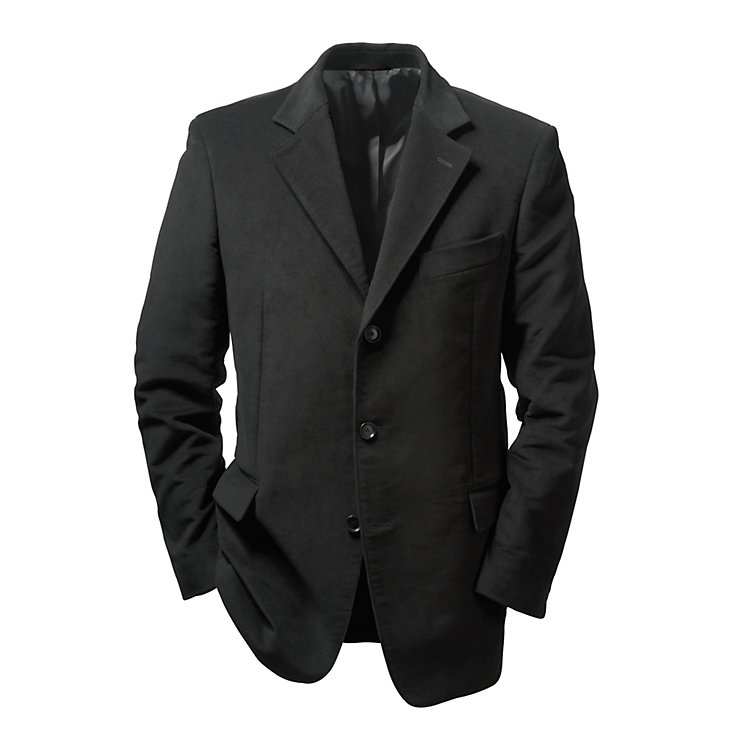 Light Moleskin Jacket, Black