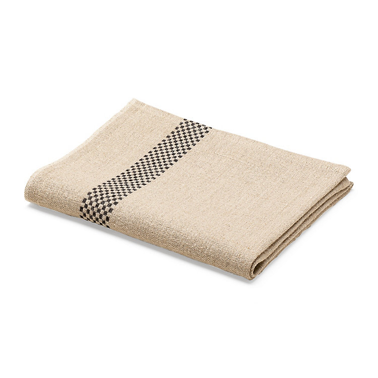 Linen Dish Towel Black
