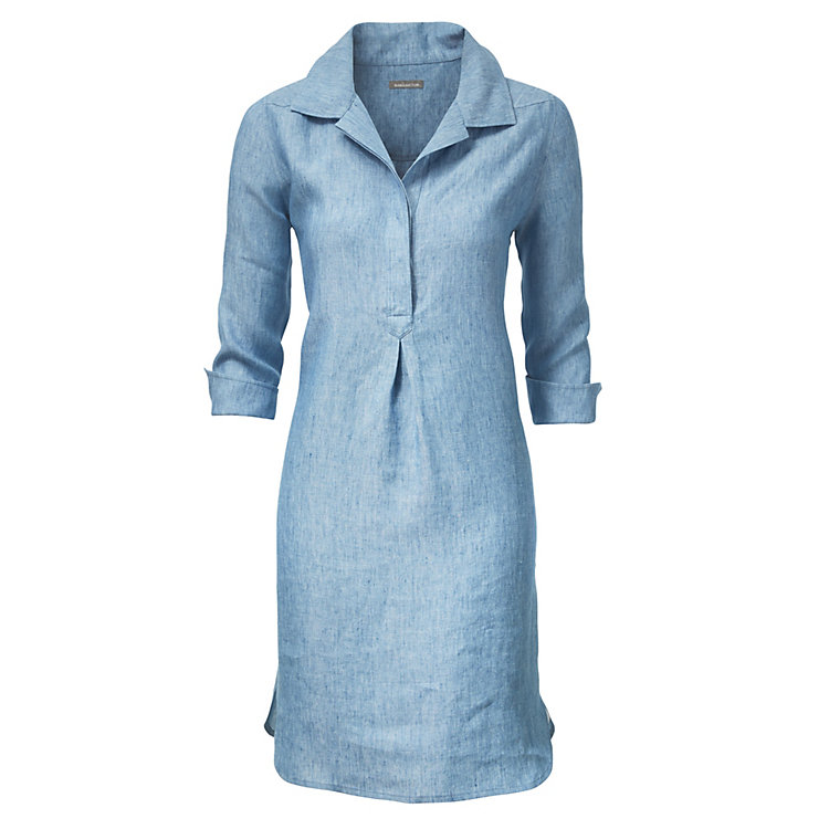 Linen Dress, Light Blue