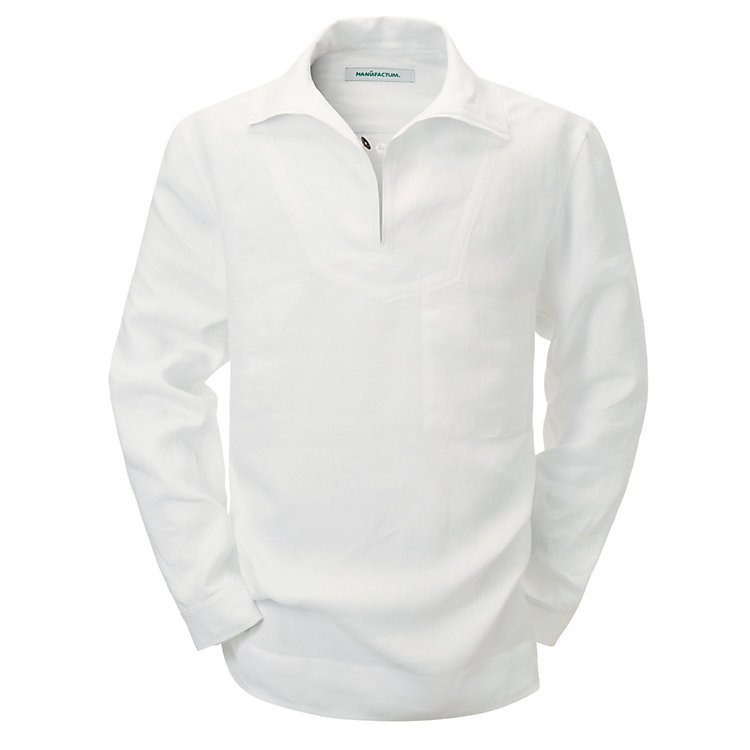 Linen Fisherman's Shirt, White