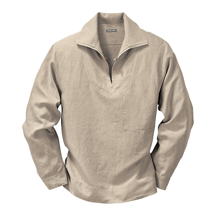 Linen Fisherman's Shirt, Nature