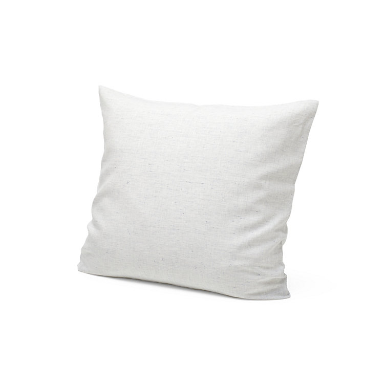 Linen Pillow Cases White-Blue 80 x 78 cm