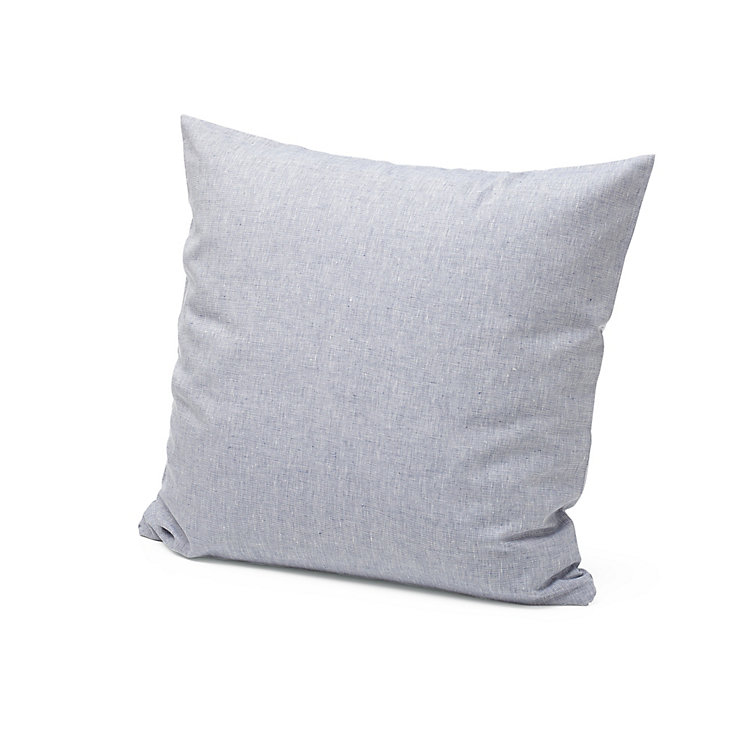 Linen Pillowcase 80 x 78 cm Blue-White