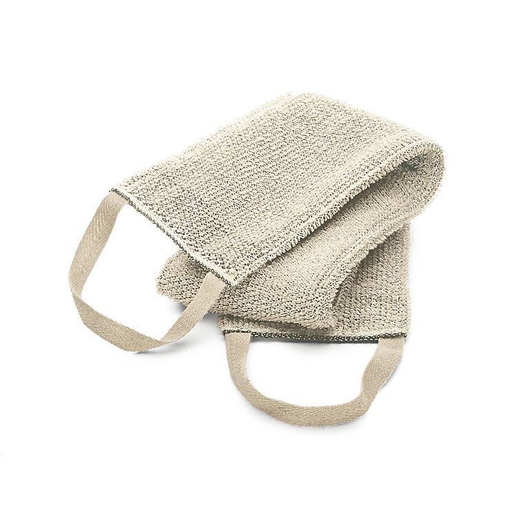 Linen Terry Back Scrubber Light Coloured