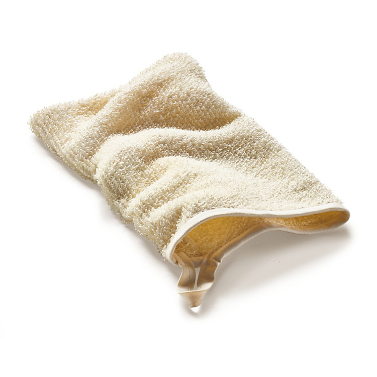 Linen Terry Washing mitt, Light Coloured