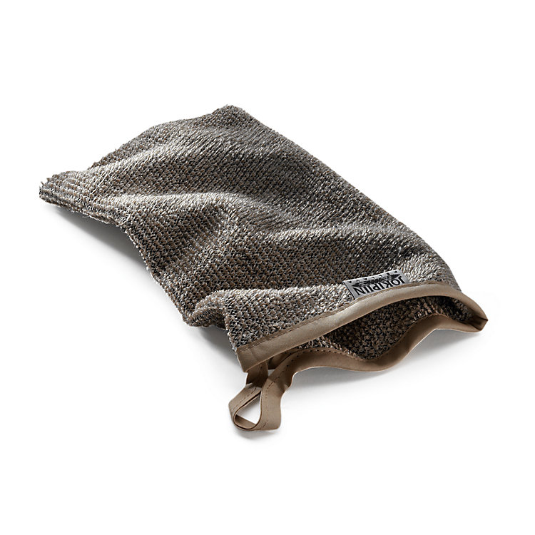 Linen Terry Washing mitt, Black and Light Coloured