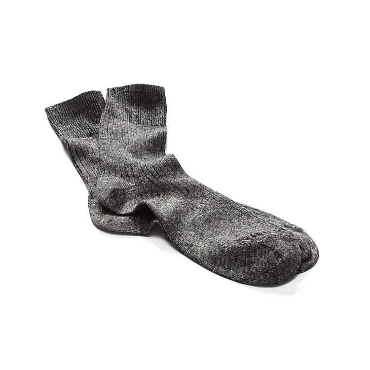 Long Life Socks Made of Merino Wool and Linen Black-White
