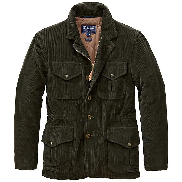 Manifattura Ceccarelli Men's Corduroy Jacket, Dark green