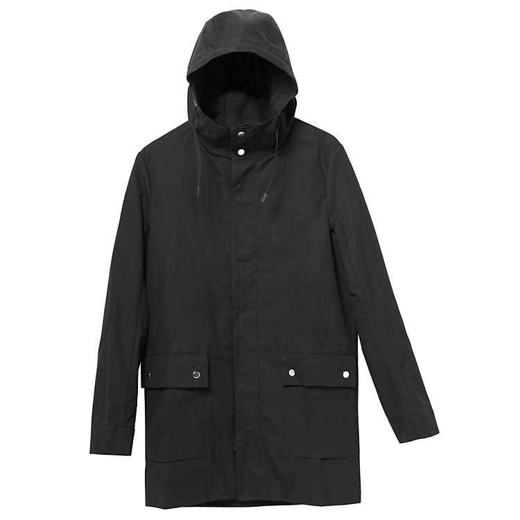 Mantel all weather coat Schwarz
