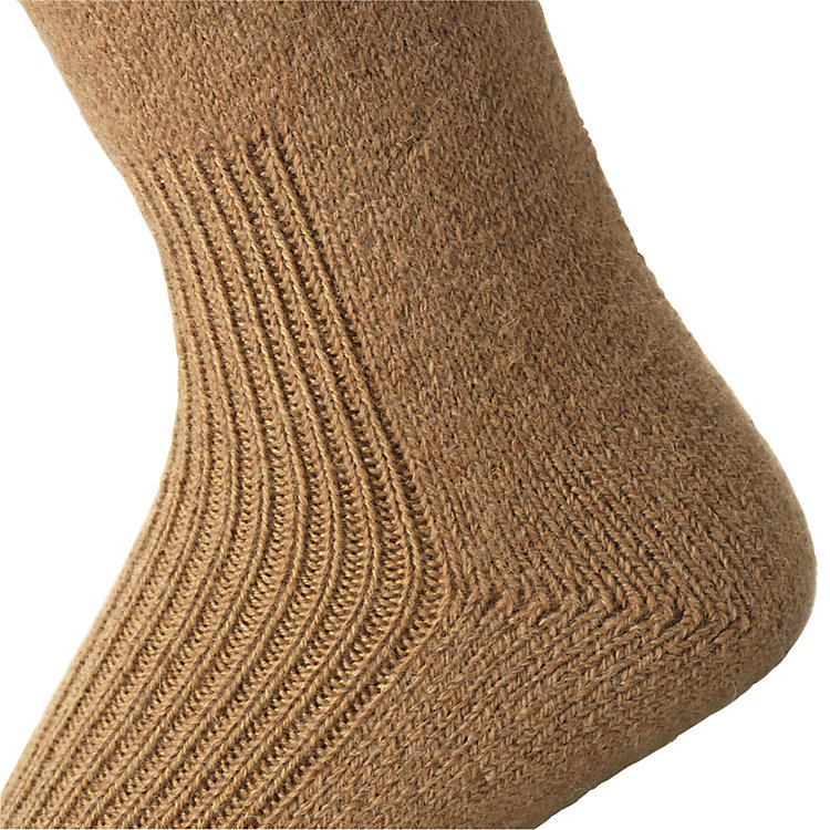 Manufactum Camel Hair Yarn Knee Stockings Brown