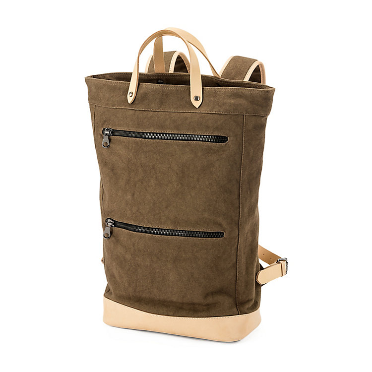 Manufactum Canvas-Backpack Khaki