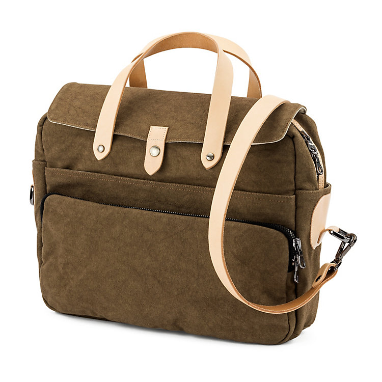 Manufactum Canvas-Laptop-Tasche Khaki