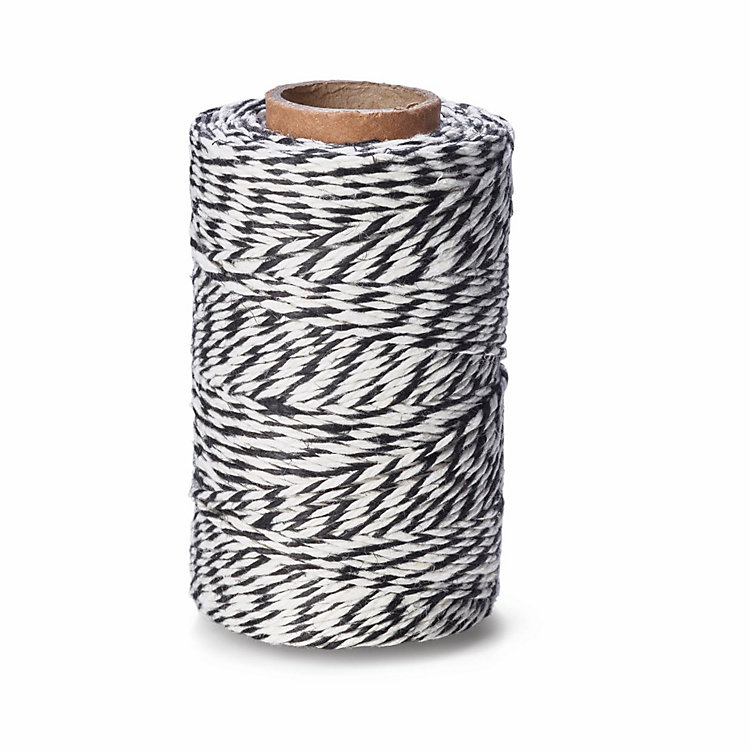 Manufactum Household Twine, Black/White