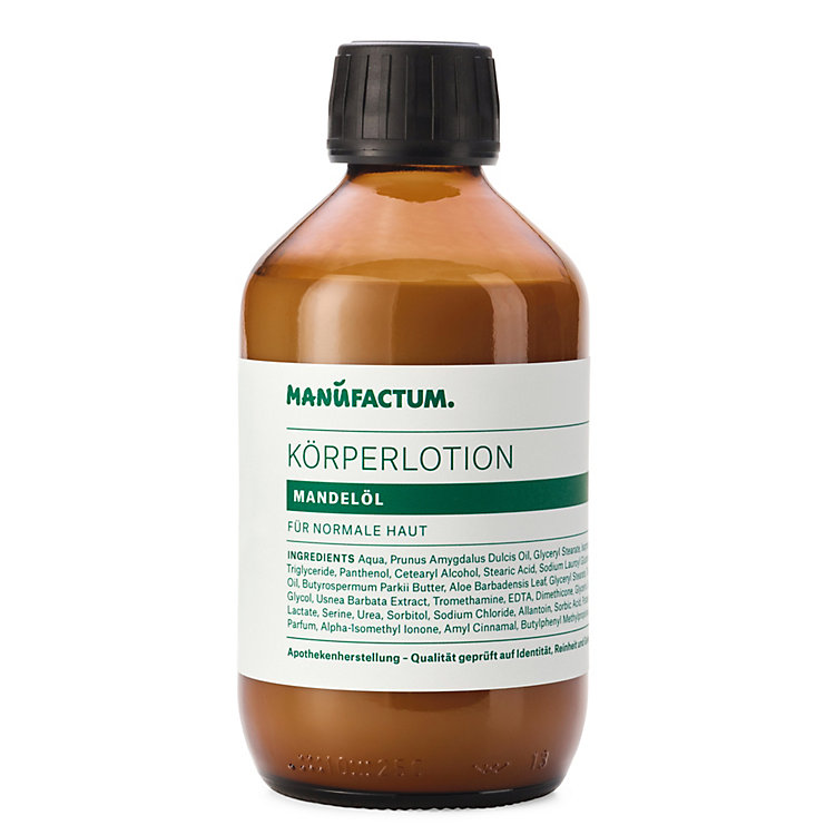 Manufactum Körperlotion Mandelöl 250-ml-Glasflasche