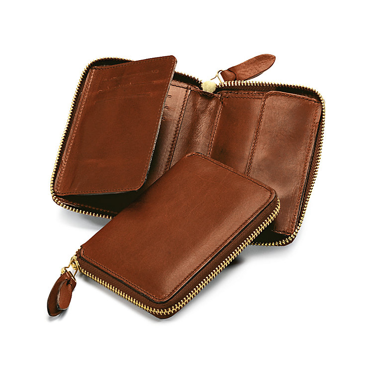 Manufactum Purse with Zipper Brown
