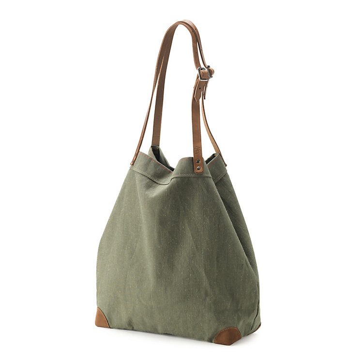 Market Bag Made of Canvas Green