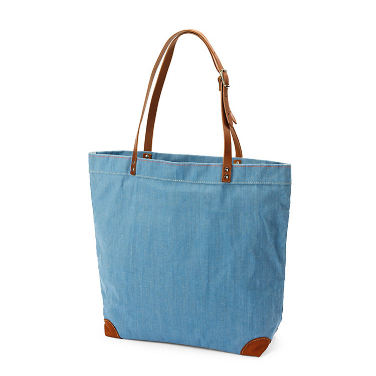 Market Bag Made of Canvas, Light Blue