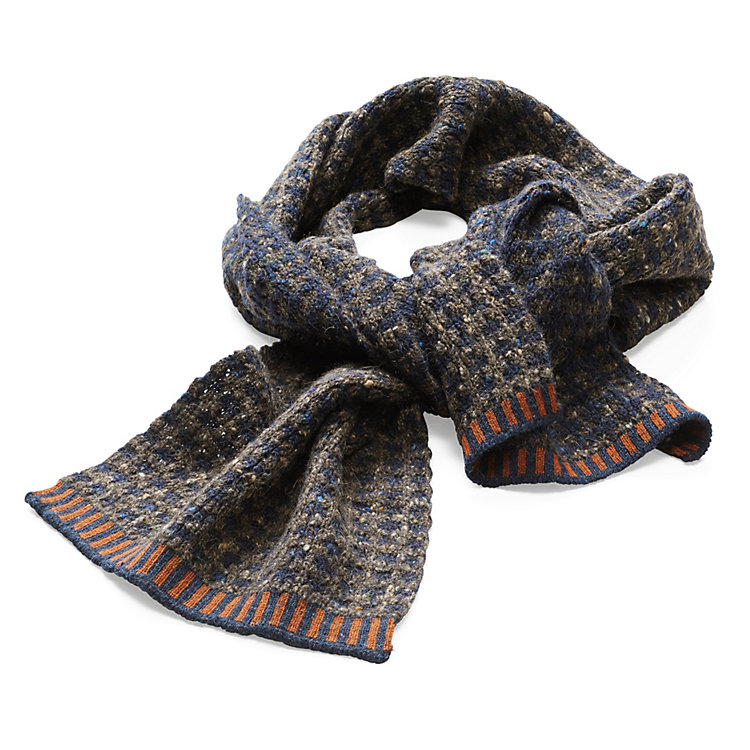 McKernan Men's Camel Hair Scarf Blue