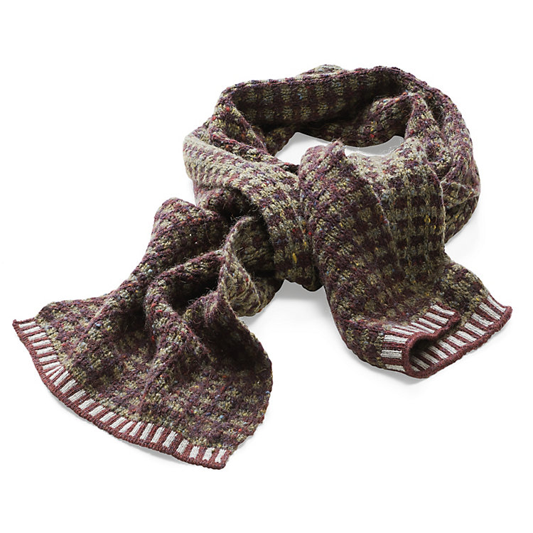 McKernan Men's Camel Hair Scarf Ruby-Coloured