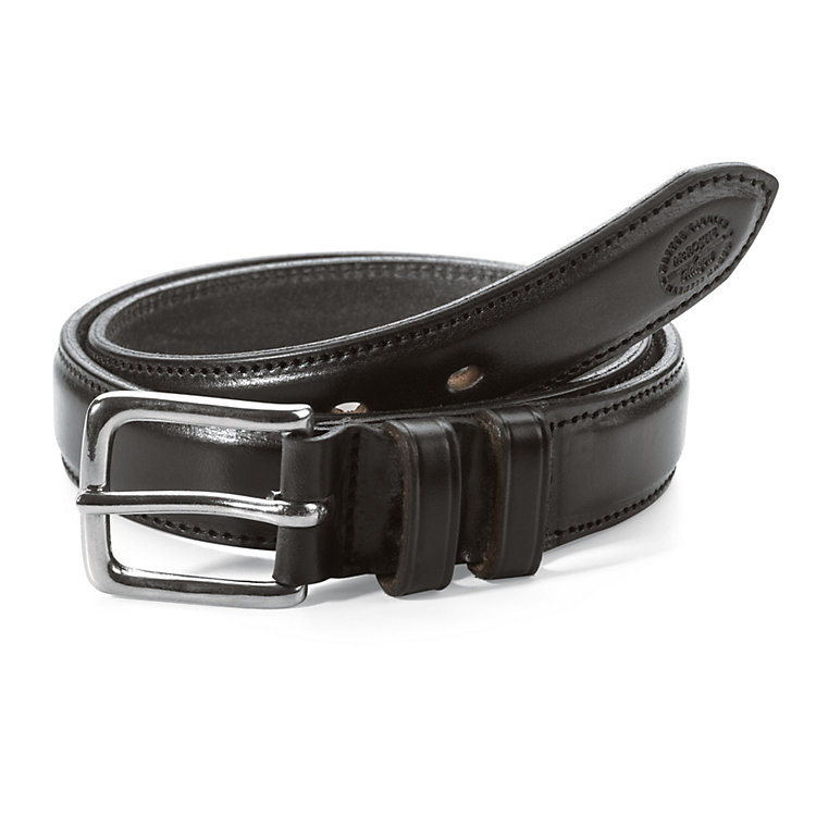 McRostie Saddle-Stitched Belt Black