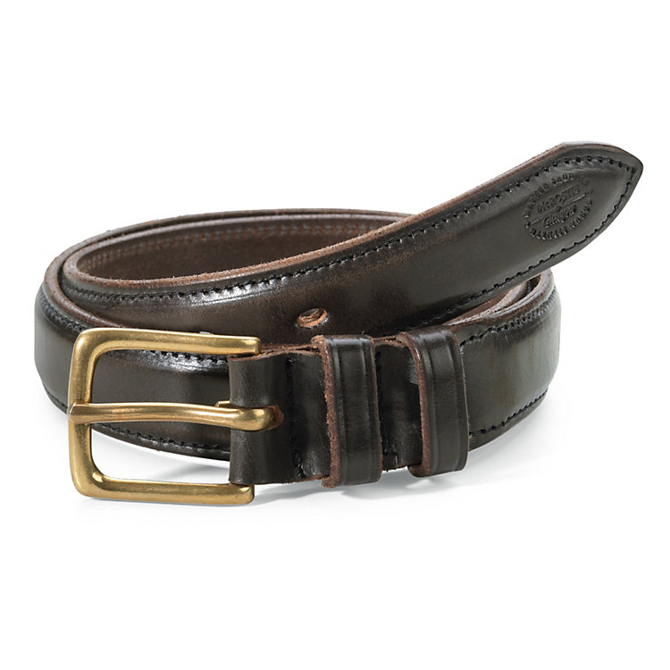 McRostie Saddle-Stitched Belt Brown