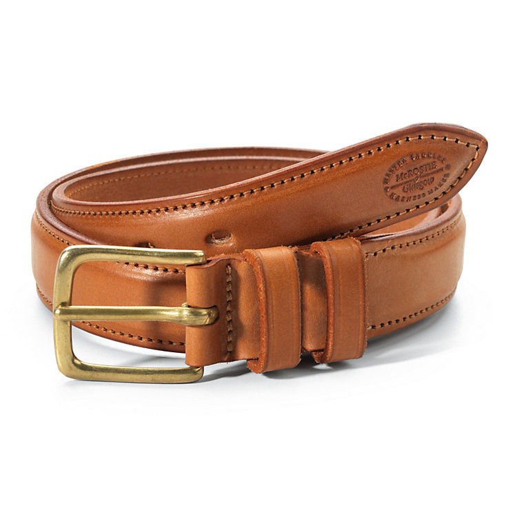 McRostie Saddle-Stitched Belt, Light brown