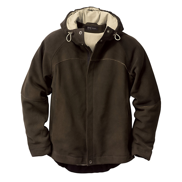 Men's Deerskin Hooded Jacket, Olive