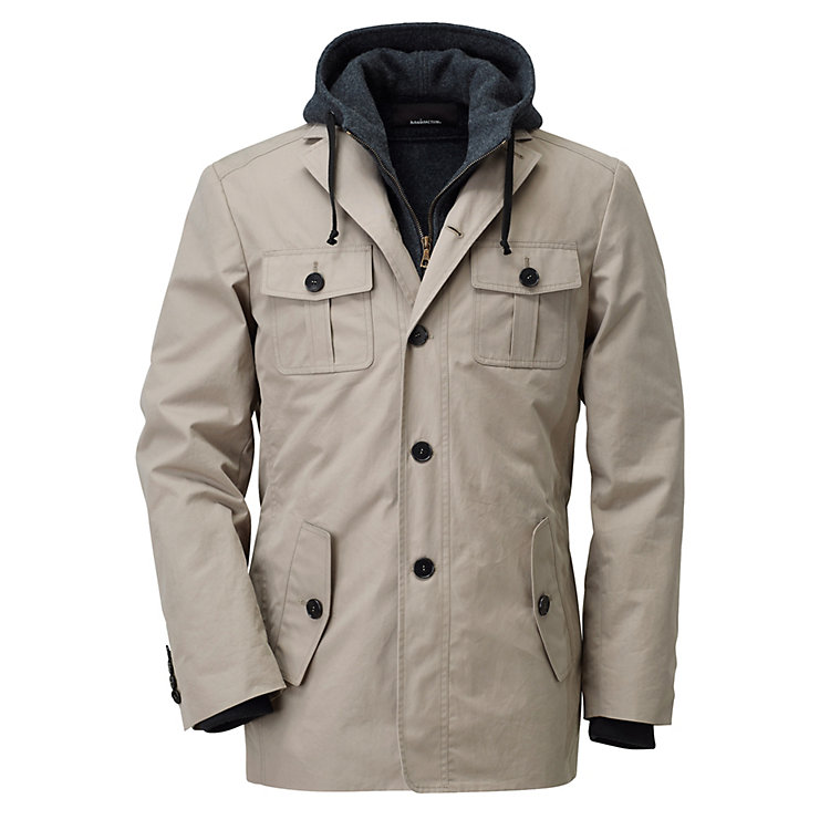 Men's EtaProof® Jacket with Pure New Wool Fleece Inner Jacket Beige