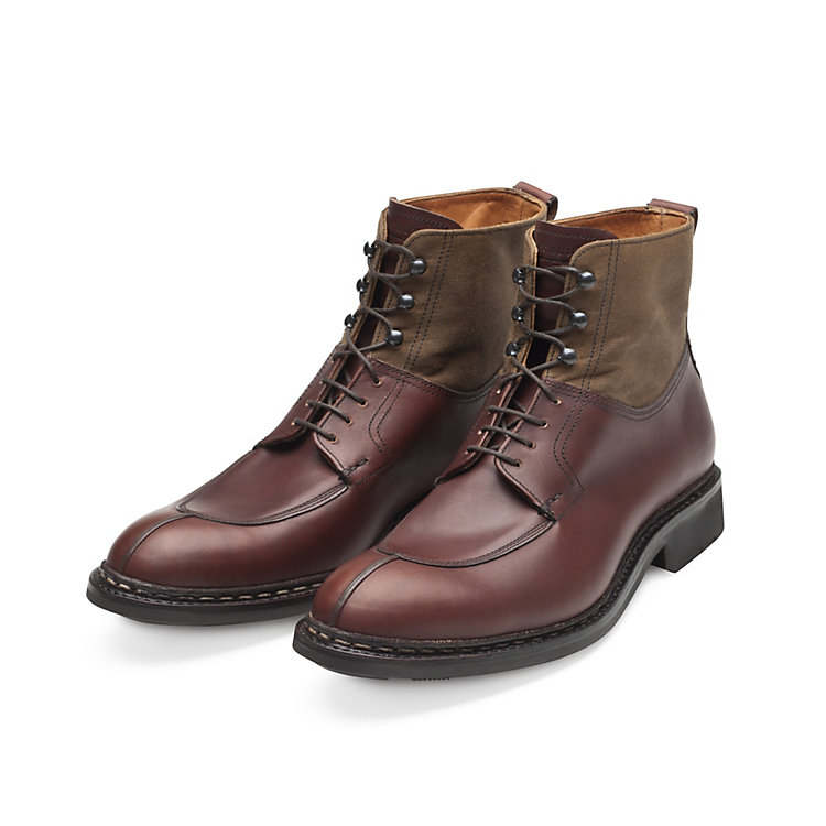 Men's Heschung High Cut Calf Leather and Cotton Shoe