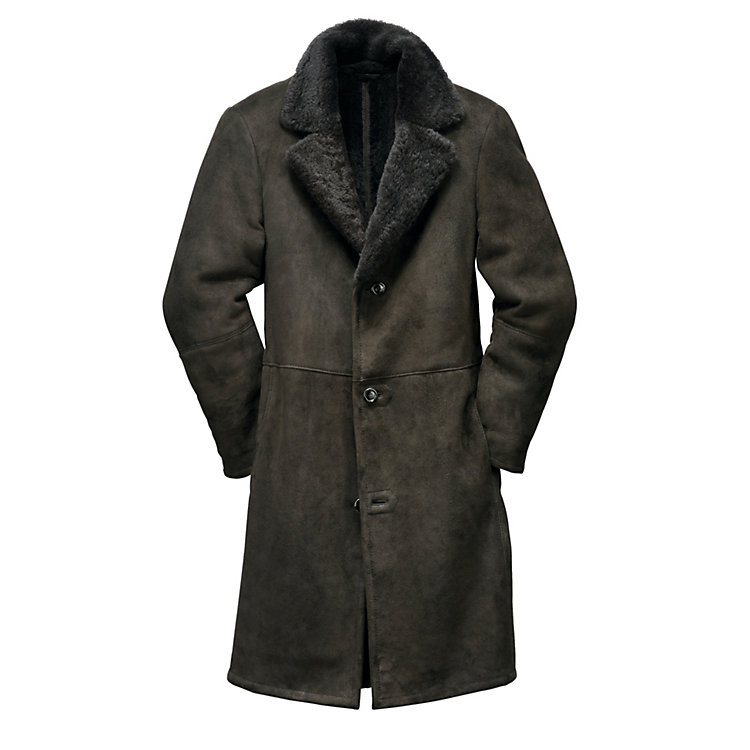 Men's Icelandic Lambskin Coat Charcoal
