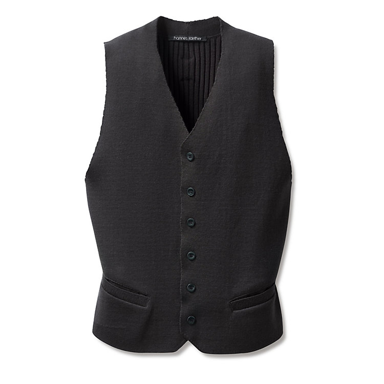 Men's Knit Waistcoat Made of Merino Wool Anthracite