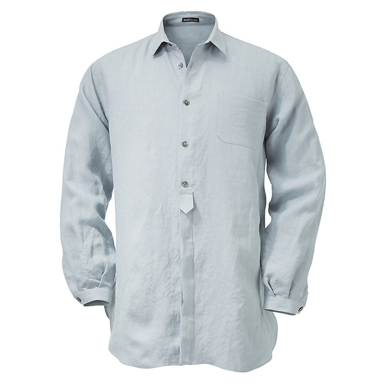 Men's Linen Shirt Blue Grey