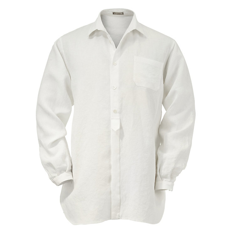 Men's Linen Shirt White