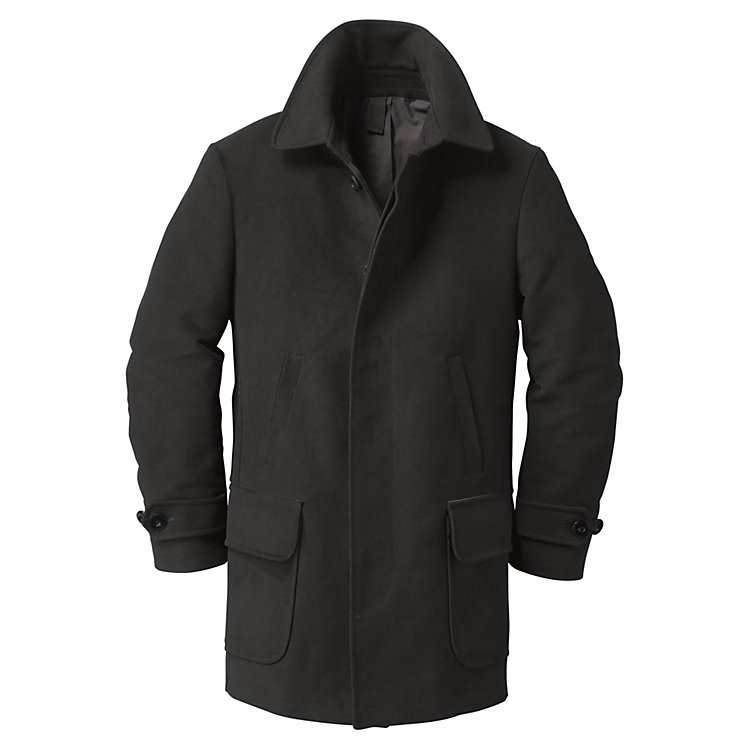 Men's Moleskin Car Coat Black