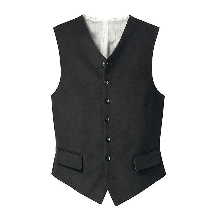 Men's Moleskin Vest, Black